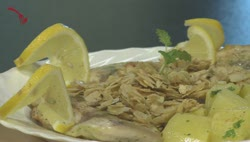 Sült hal mandulás vajon